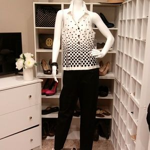 $70 BLK/WHT DORBY 2 PC OUTFIT 10P